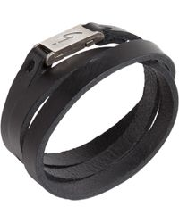 agnès b. - Black Bracelet Mann - Lyst