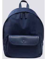 agnès b. - Navy Blue Canvas And Leather Backpack - Lyst