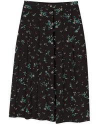 agnès b. - Black Flowers Printed Loise Skirt - Lyst