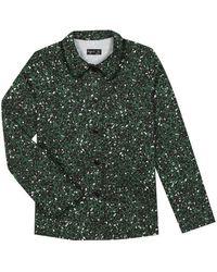 agnès b. - Green Leopard Print Zola Jacket - Lyst