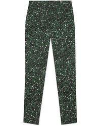 agnès b. - Green Leopard Print Marilyn Jeans - Lyst