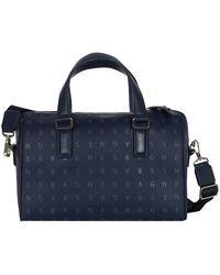 agnès b. - Navy Blue Small Boston Bag - Lyst