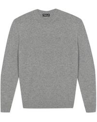 agnès b. - Grey Elbow Patch Pullover - Lyst