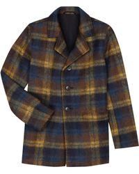 agnès b. - Yellow Checked New James Coat - Lyst