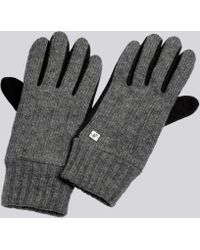 agnès b. - Grey Simon Gloves - Lyst
