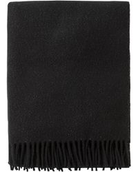 agnès b. - Black Wool And Lurex Bilal Scarf - Lyst