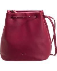 agnès b. - Red Leather Bucket Bag - Lyst