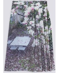 "agnès b. - ""magnolias"" Photo Livine Skirt - Lyst"