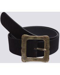 agnès b. - Black Hildegarde Leather Belt - Lyst