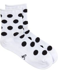 Agnes B. | Black Dots Socks | Lyst