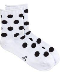 agnès b. - Black Dots Socks - Lyst