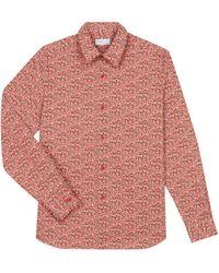 agnès b. - Red Flowers Print Cotton Andy Shirt - Lyst
