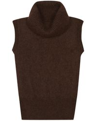 agnès b. - Brown Mohair Ring Pullover - Lyst