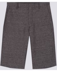 agnès b. - Grey Glen Bermuda Shorts - Lyst