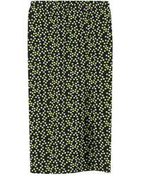 agnès b. - Green Square Pattern Tomate Skirt - Lyst
