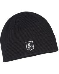agnès b. - Black Wool Marcel Beanie Hat - Lyst