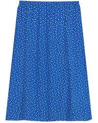 agnès b. - Blue Printed Amande Skirt - Lyst