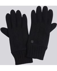 agnès b. - Black Wool Simon Gloves - Lyst
