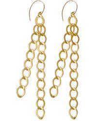 agnès b. - Gold Brass Zofia Earings - Lyst