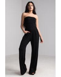 AKIRA - In The Atmosphere Strapless Jumpsuit - Lyst