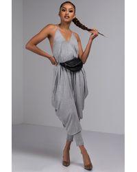 11adb0f2a673 Lyst - Akira Dressed To Impress Long Sleeve Romper in Gray
