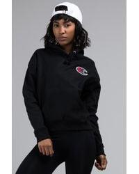 Champion - Womens Reverse Weave Big C Pullover Hoodie - Lyst