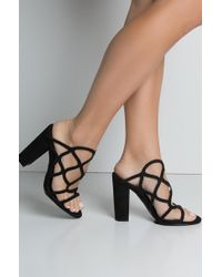 b1d324ffb0de Unk - Dont You Dare Chy Heel Sexy Sandals - Lyst