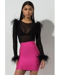 5a2bc4f4743a2e Bebe Princess Bandage Mini Skirt in Black - Lyst