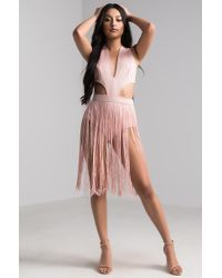 AKIRA - Notice Me Fringe Party Romper - Lyst