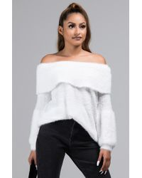 AKIRA - Dont Have Time Off Shoulder Long Sleeve Sweater - Lyst