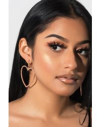 AKIRA - Attached At The Heart Earring - Lyst
