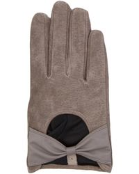 AKIRA - Suede Bow Glove - Lyst