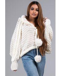 AKIRA - Loves Me Loves Me Knit Cropped Hoodie - Lyst