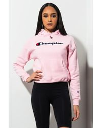 Champion - Reverse Weave Pullover Hoodie With Chenille Script Logo - Lyst