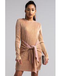 AKIRA - That Was Then Pleated Mini Dress - Lyst