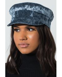 AKIRA - Hate On You Crushed Velvet Conductor Hat - Lyst