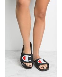 48513ad9d49c Lyst - Champion Pool Slide Sandals in Black - Save 5.882352941176464%
