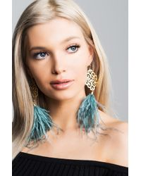 AKIRA - Won't Hold Back Feather Earrings - Lyst