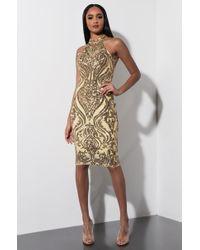 AKIRA - Kate Moss Sequin Midi Dress - Lyst