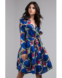 AKIRA - In A Crowded Room Printed Trench Coat - Lyst