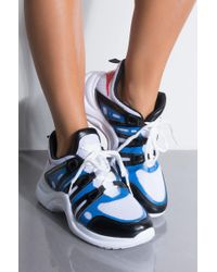 AKIRA - Cool Is A State Of Mind Mesh Platform Sneaker - Lyst