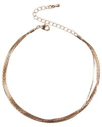 AKIRA - Lifestyle Rose Gold Anklet - Lyst