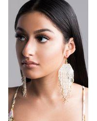 AKIRA - Taku Beaded Tassel Earring - Lyst