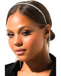 AKIRA Avary Rhinestone Headband - Metallic