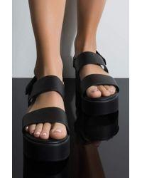 74e0e794e41 AKIRA - Cher Is That You Platform Sandal - Lyst