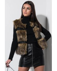 AKIRA - Born To Be Wild Faux Fur Paneled Vest - Lyst