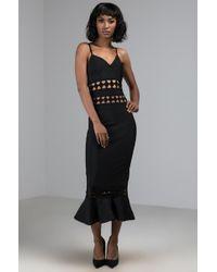 AKIRA - Let's Go To Soho Cutout Midi Dress - Lyst