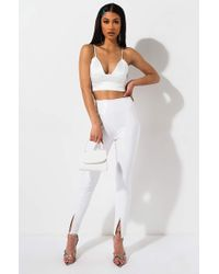 AKIRA Fierce N Fly Liquid Vinyl High Waist Skinny Pants