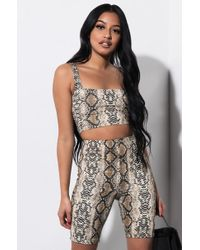 AKIRA - Keep It Movin Animal Print Biker Shorts - Lyst