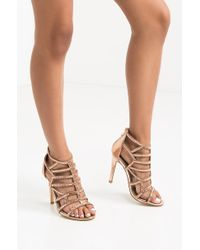 AKIRA - There She Goes Strappy Heeled Sandals - Lyst